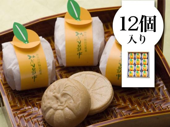 【和菓子処味楽庵】みかん最中12個入
