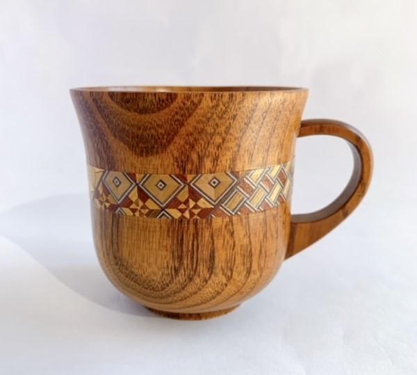 寄木マグカップ