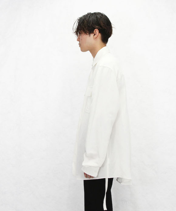 "【SOLD OUT】SOSHIOTSUKI KIMONO BREASTED SHIRT ""WHITE"""