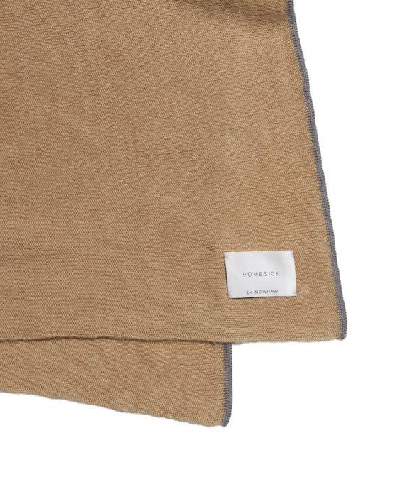 "NOWHAW HOMESICK ""golden rectangle"" stall(blanket) #camel blue"