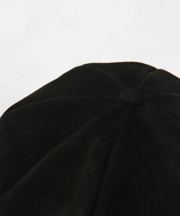 "KAIKO PIG SUEDE CASQUETTE ""BLACK"""