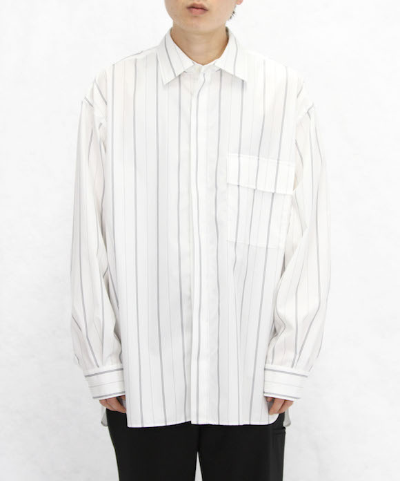 """no. FRONT FLY SHIRT """"WHITE"""""""