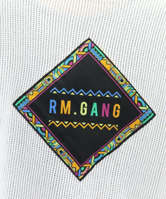 "R.M GANG MESH S/S TEE ""WHT"""