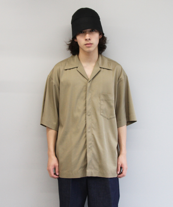 "order loose half sleeve shirt ""sax blue"""