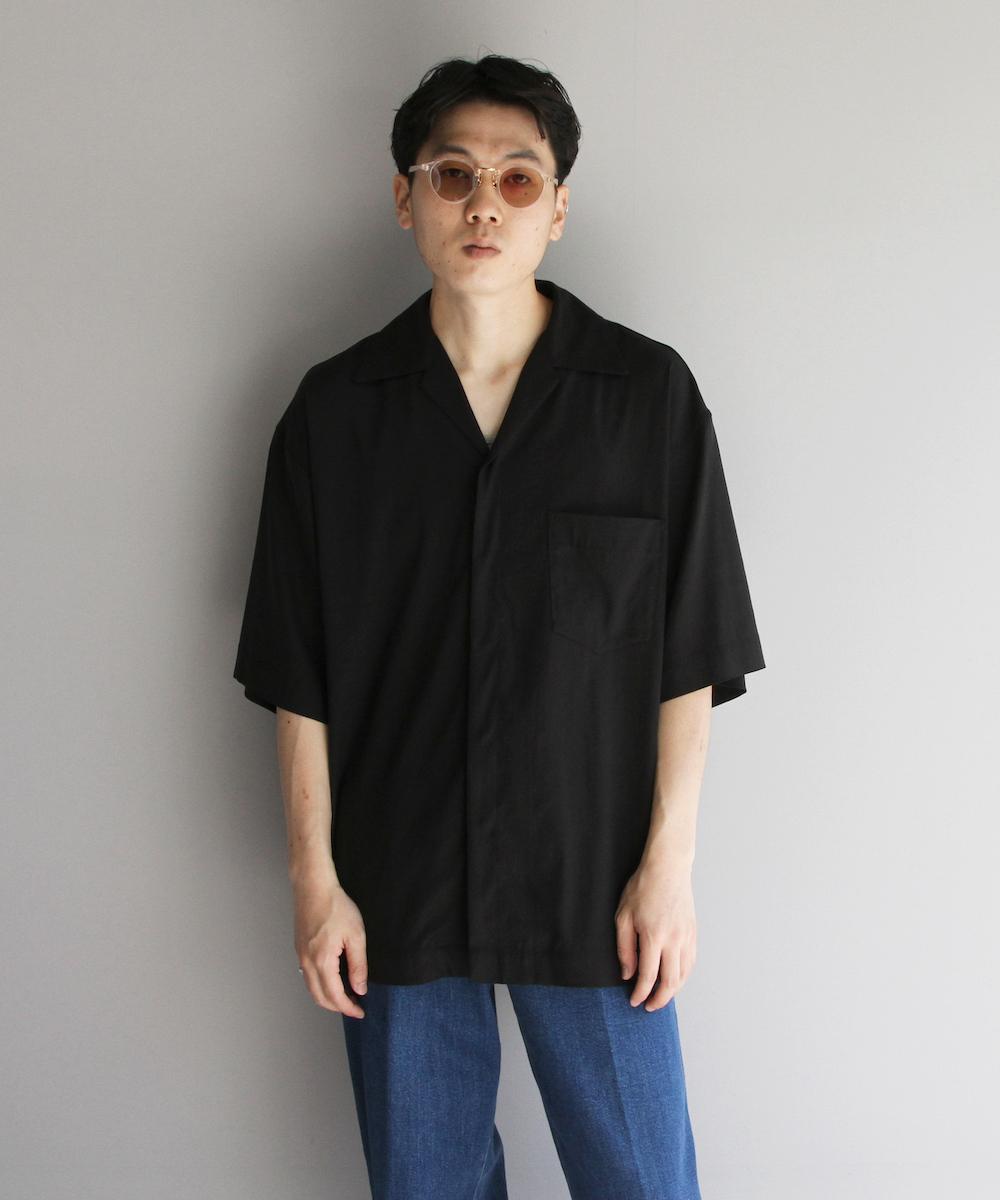 """order loose half sleeve shirt """"beige"""""""