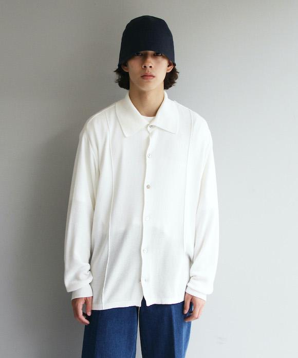 """【予約商品】KAIKO BOX KNIT SHIRT """"OFF WHITE"""""""