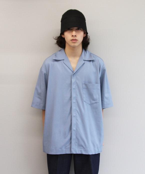 "【SOLD OUT】order loose half sleeve shirt ""dark gray"""