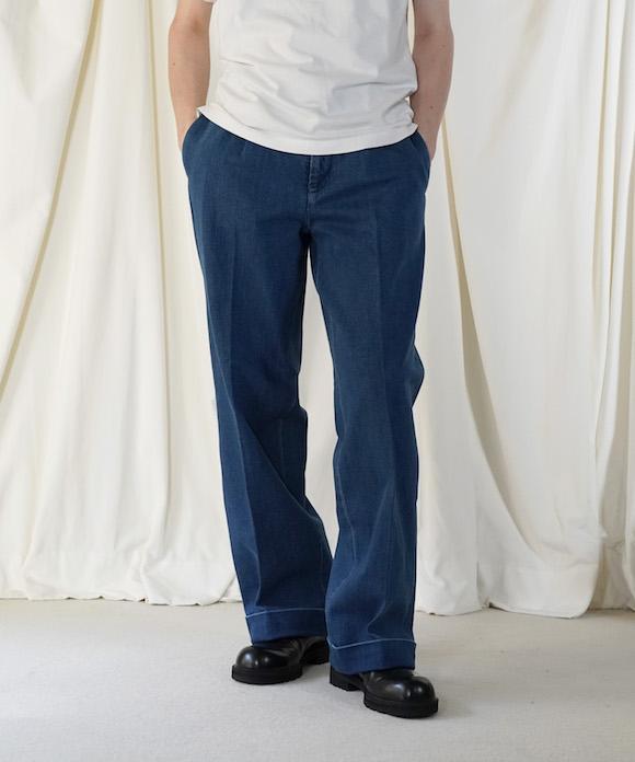 "order loose slacks denim ""indigo medium wash"""