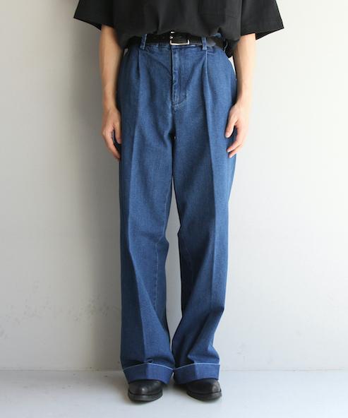 "order loose slacks denim ""indigo rigid"""