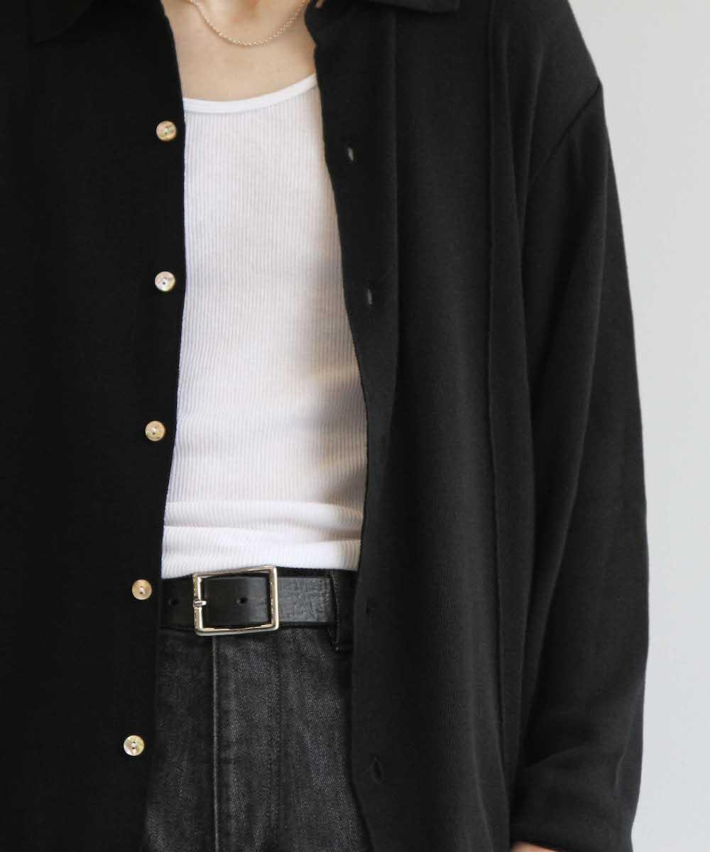 "【予約商品】KAIKO BOX KNIT SHIRT ""BLACK"""