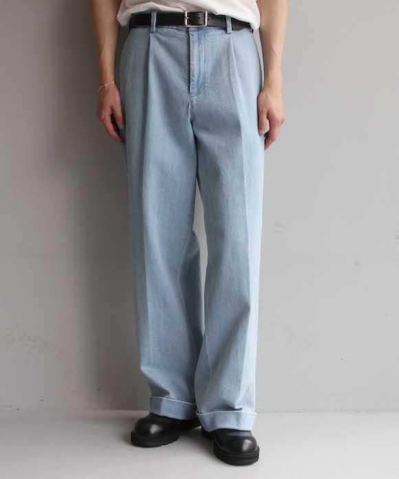 "order loose slacks denim ""indigo full wash"""