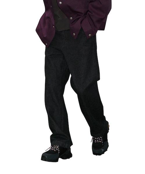 "order loose denim pants one wash ""black"""