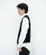 "KAIKO OUTLINE VEST VELOUR ""BLACK"""