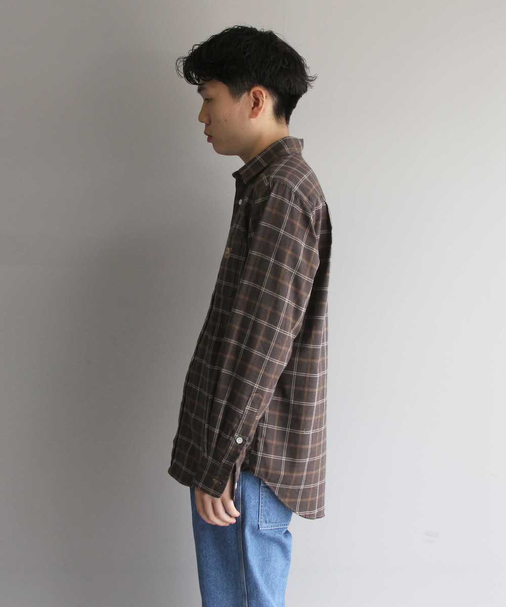 """【SOLD OUT】BLUFCAMP CHECK SHIRT """"BROWN"""""""
