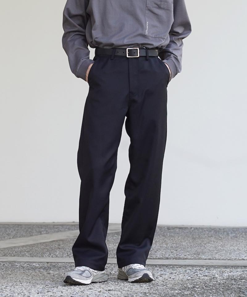 "【LIMITED SALE】order loose twill pants ""black"""
