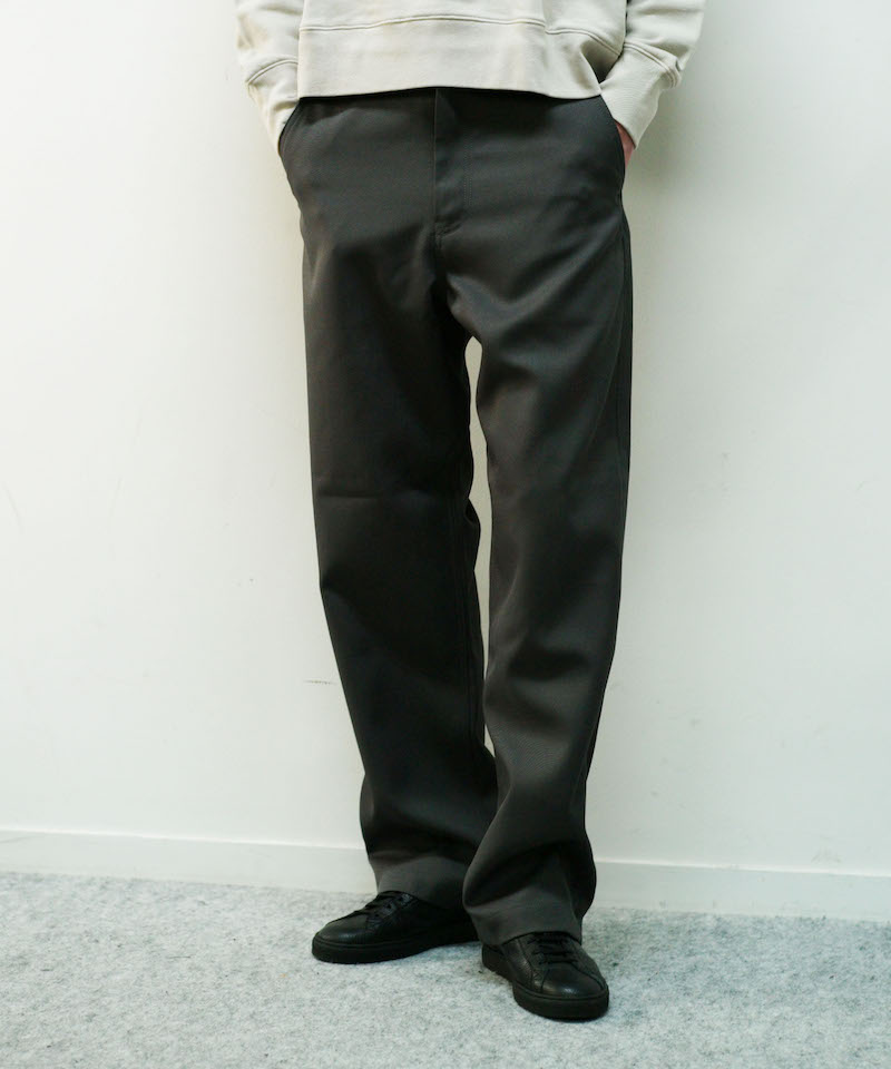 "order loose twill pants ""d.gray"""