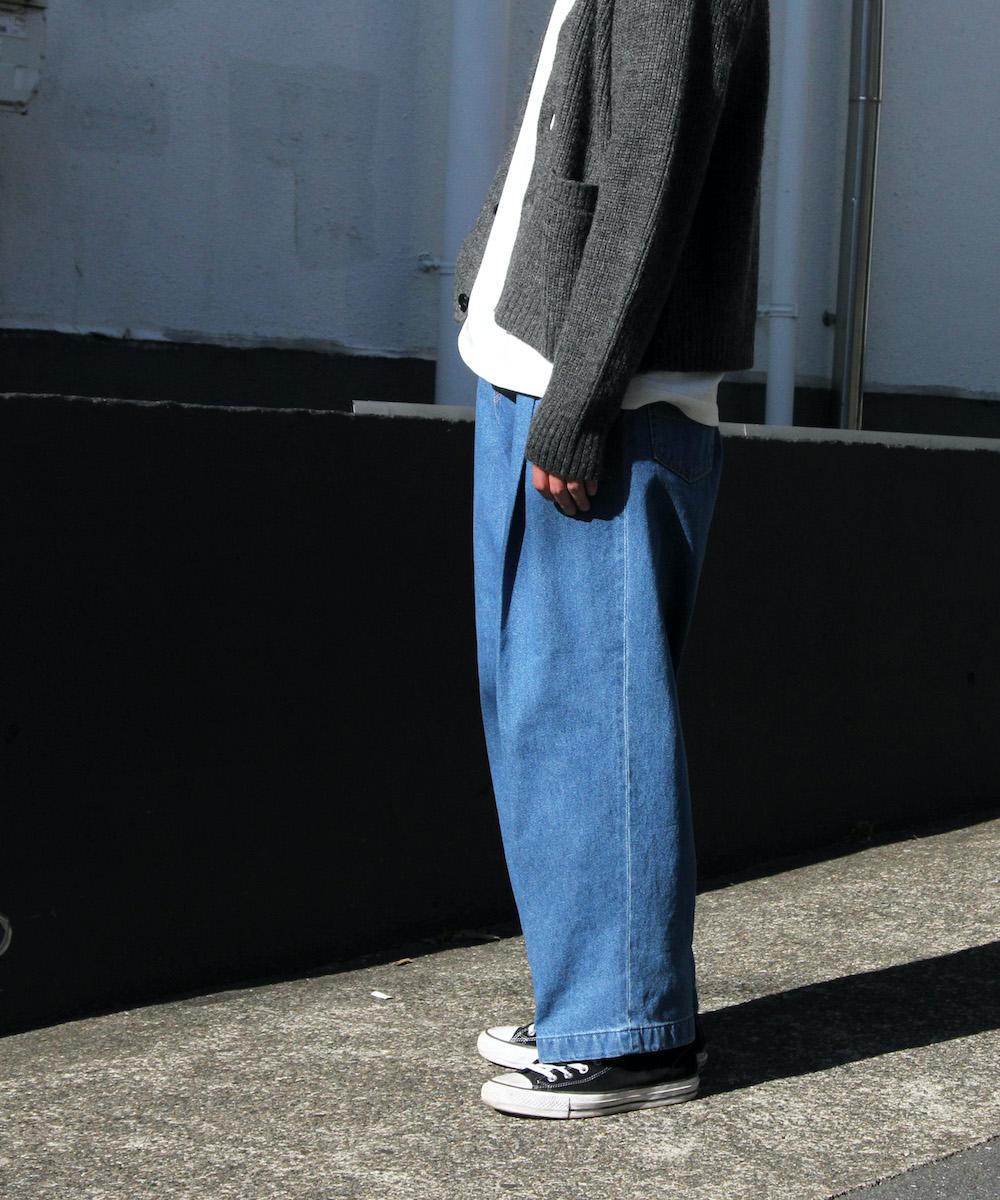 "【EXCLUSIVE】NEONSIGN WIDE DENIM SLACKS ""70s"" USED ""INDIGO70SRTR"""