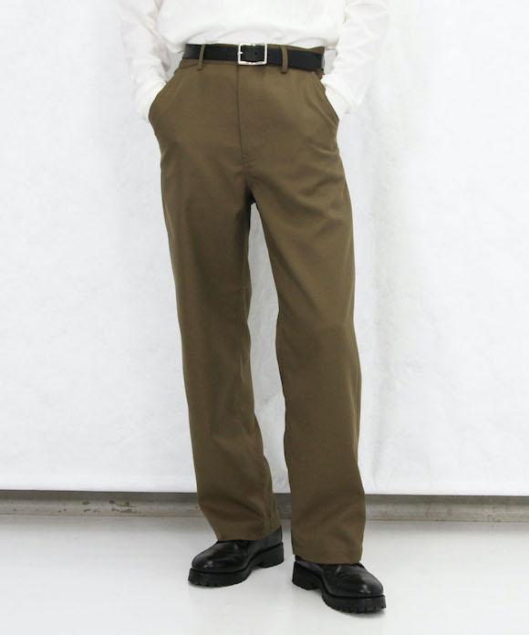 "order loose twill pants ""khaki"""