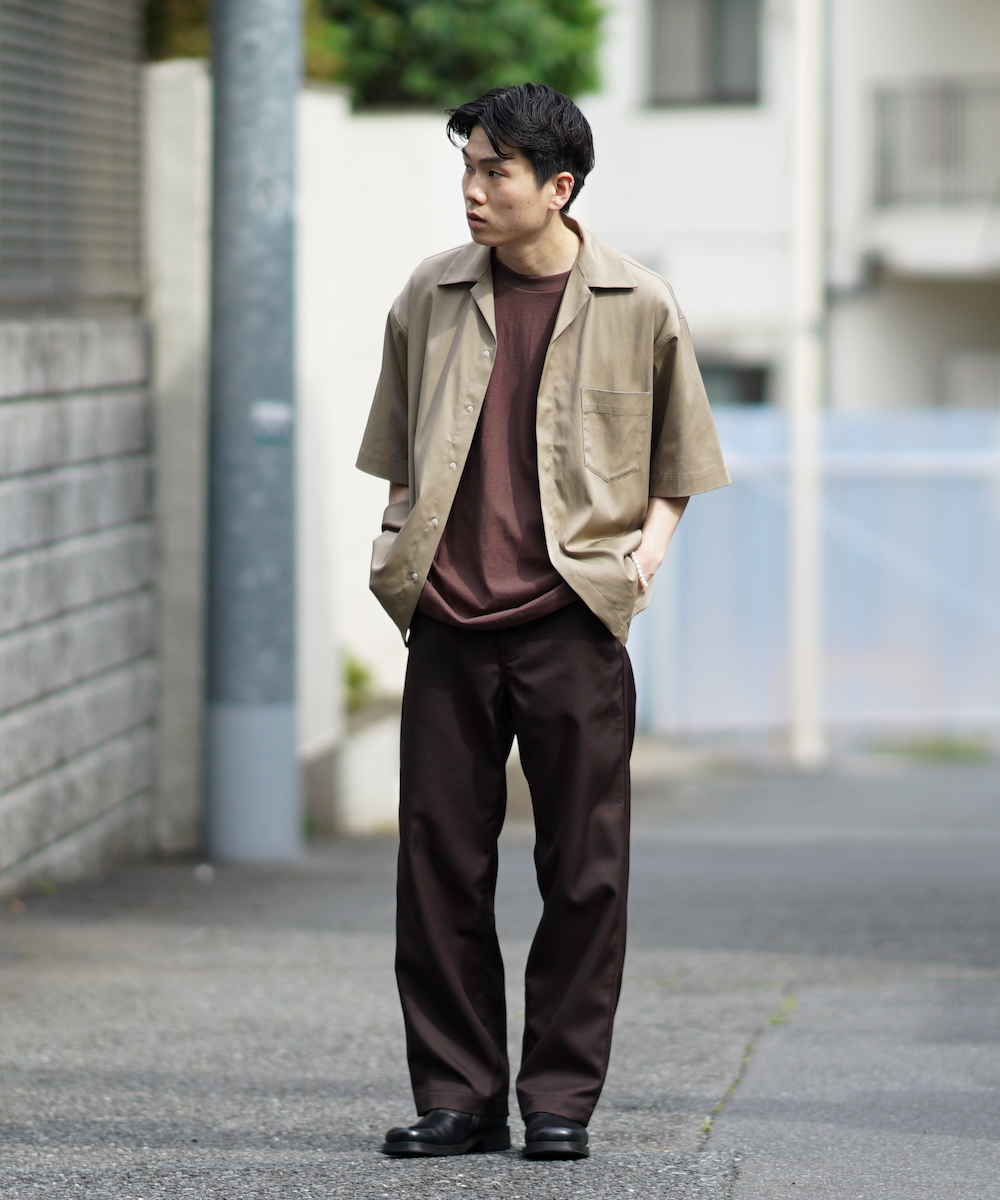 "order loose twill pants ""brown"""