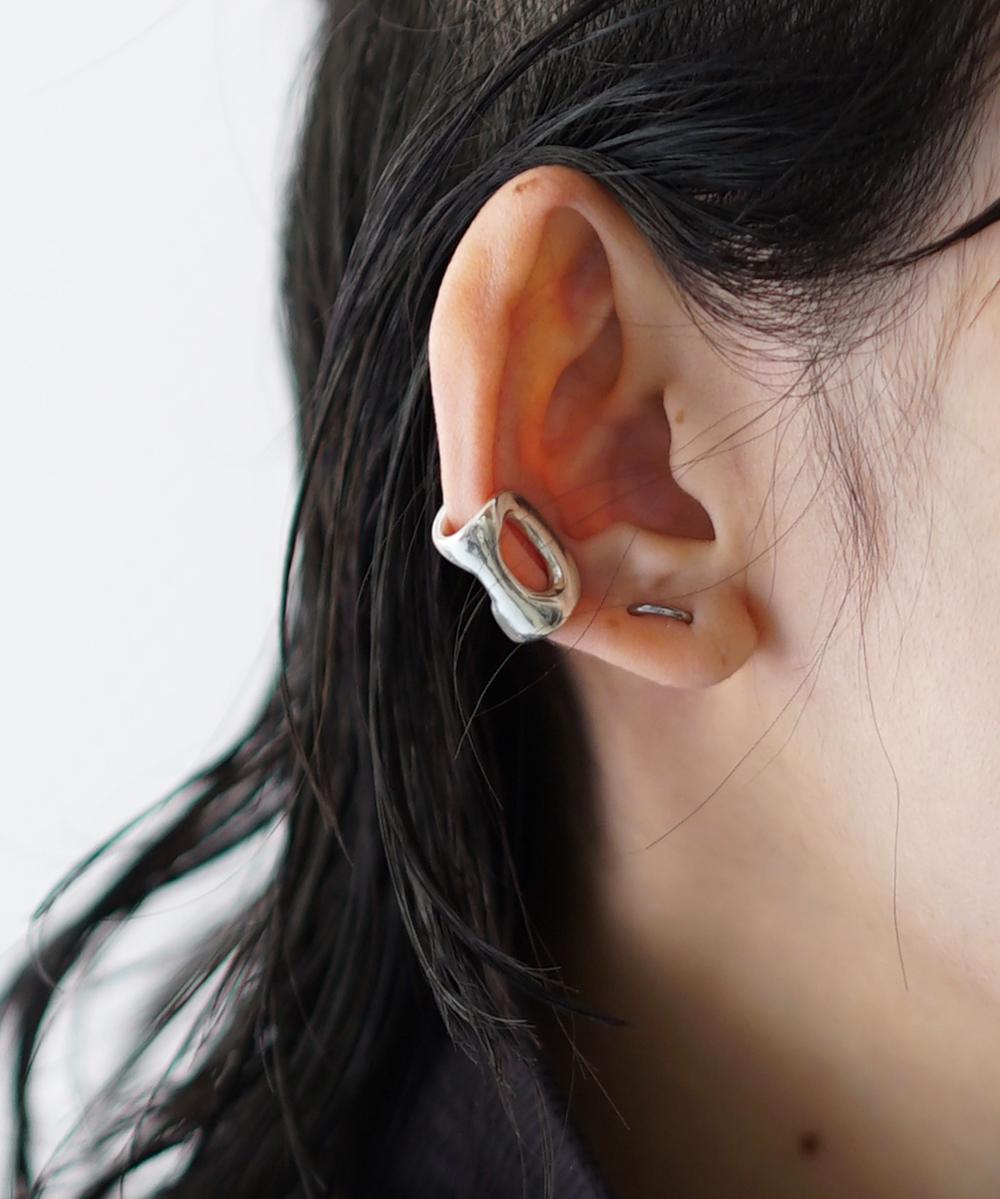 "KAIKO ABSTRACT EAR CUFF ""SILVER"""