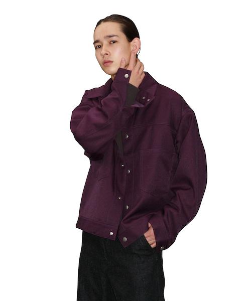 "order loose twill blouson ""purple"""