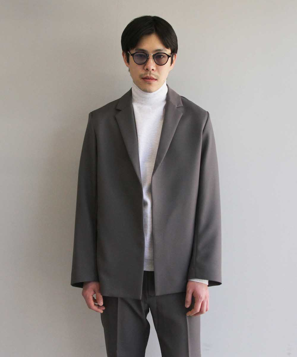 "KAIKO BUTTONLESS JACKET ""D.GRY"""