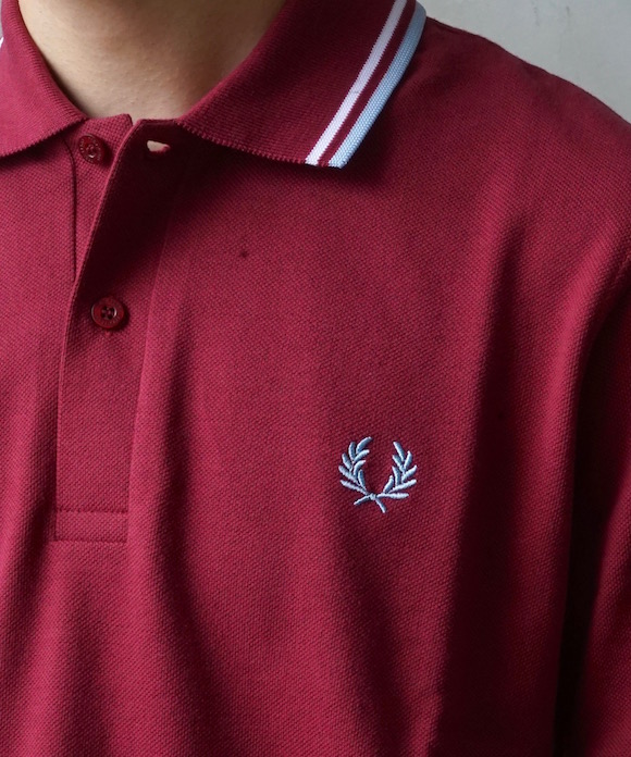 """FRED PERRY Made in England shirt """"MAROON"""""""