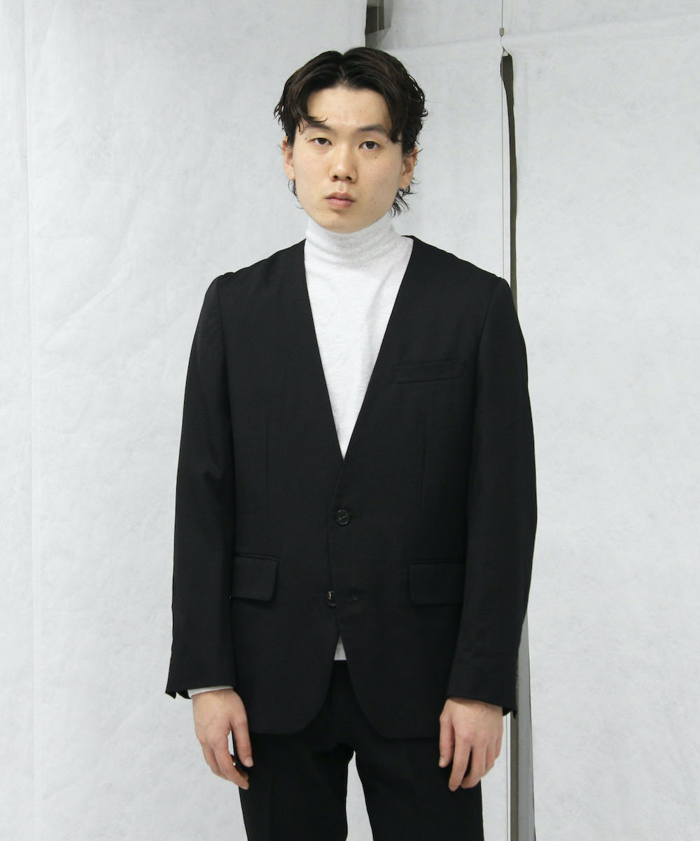 "NEONSIGN TWILLY NO COLLAR JACKET ""BLACK"""