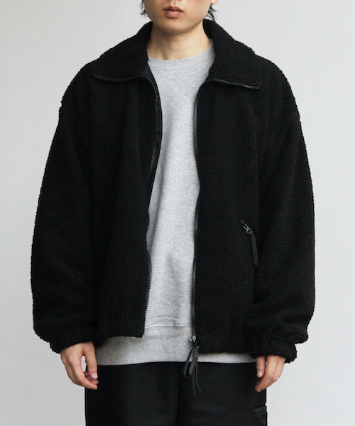 "order loose boa zip blouson ""black"""