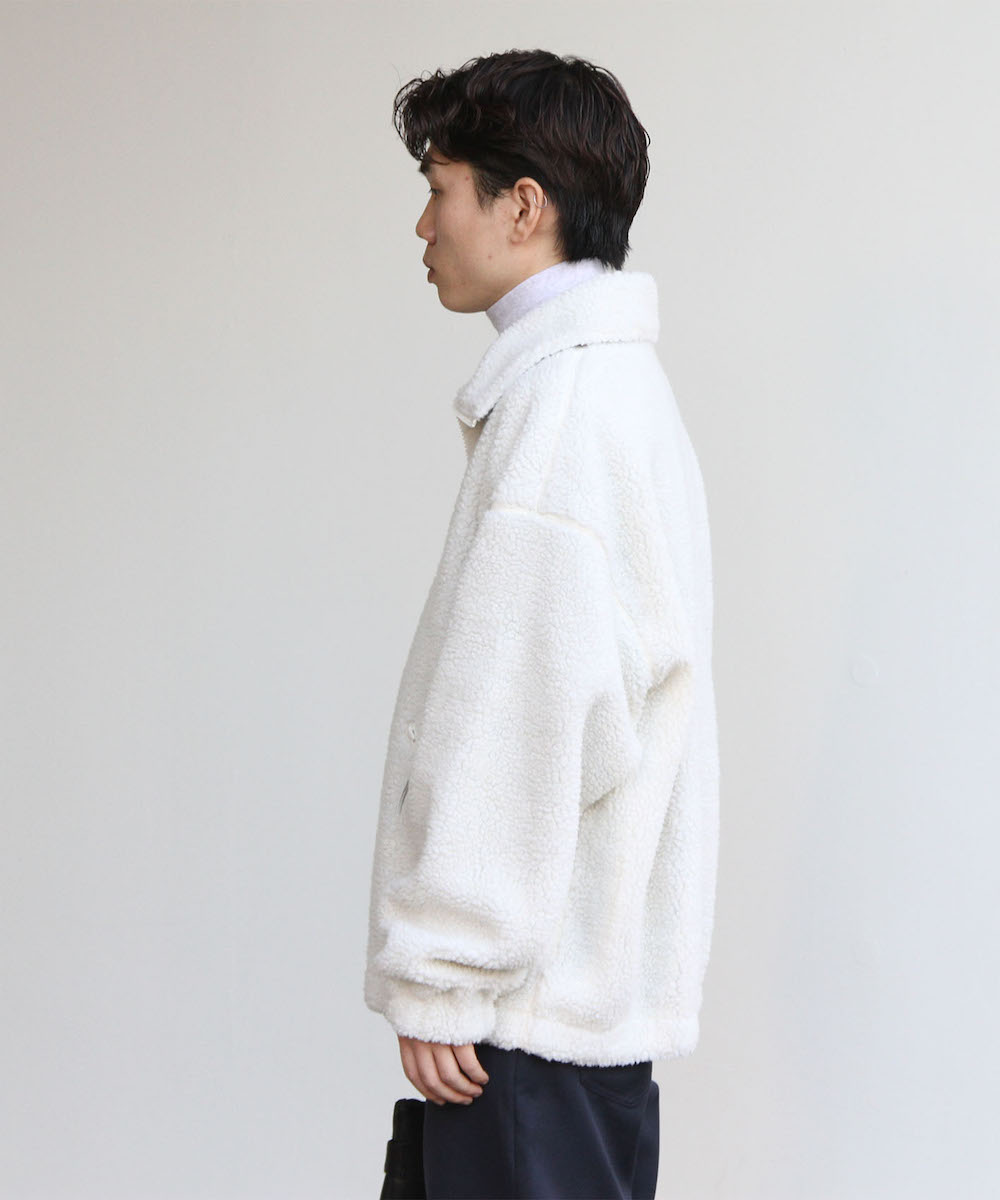 "order loose boa zip blouson ""off white"""