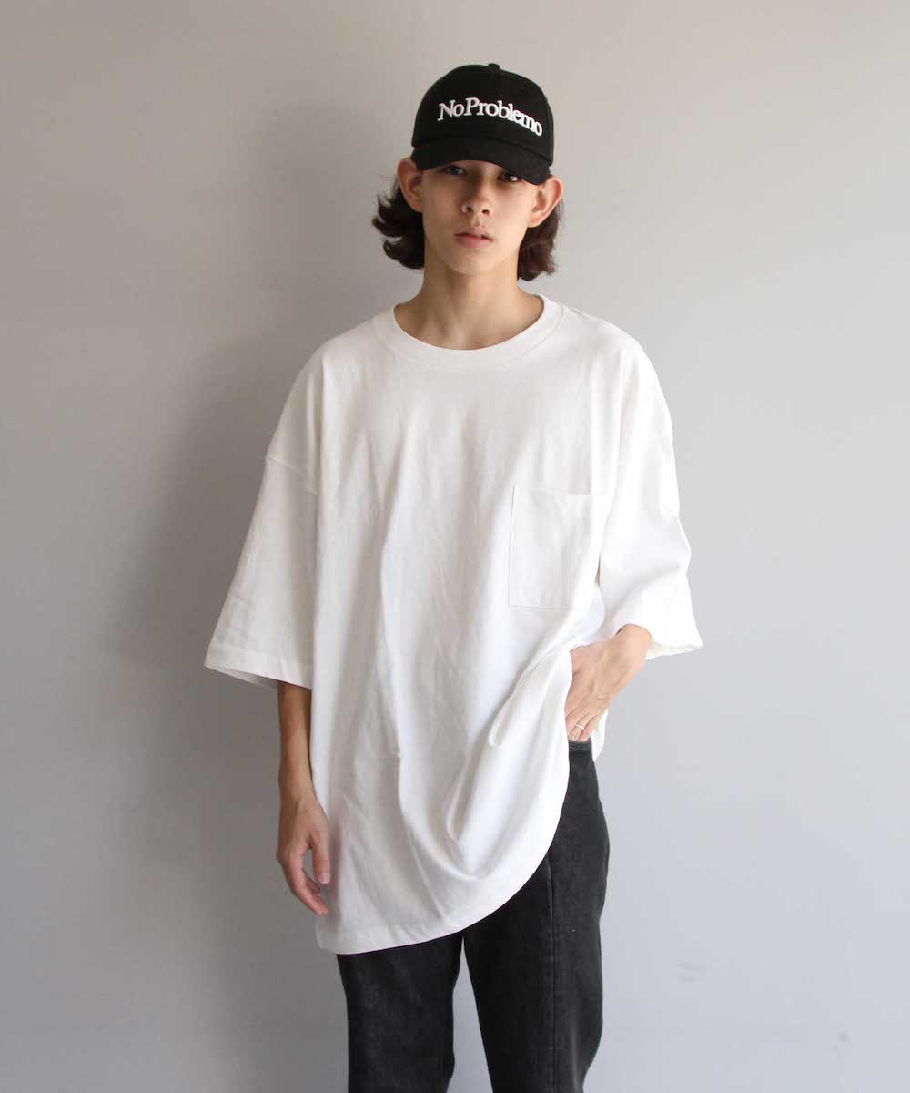 "【LIMITED SALE】order loose pocket tee ""white"""