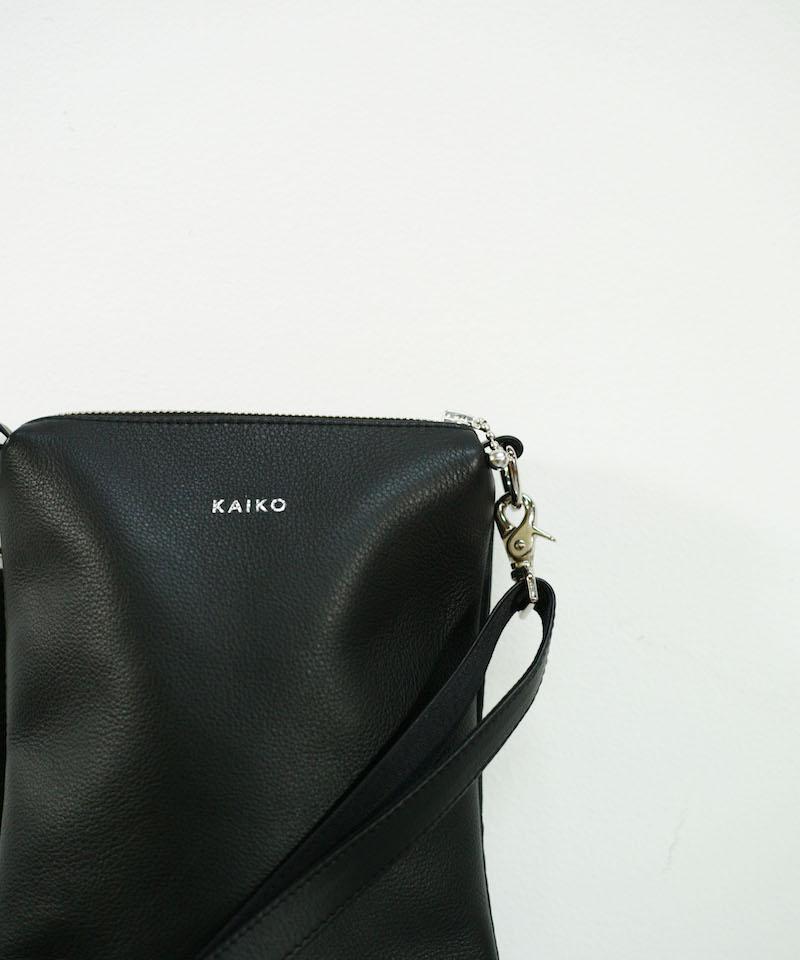 """KAIKO LEATHER SHOULDER BAG """"BLACK"""""""