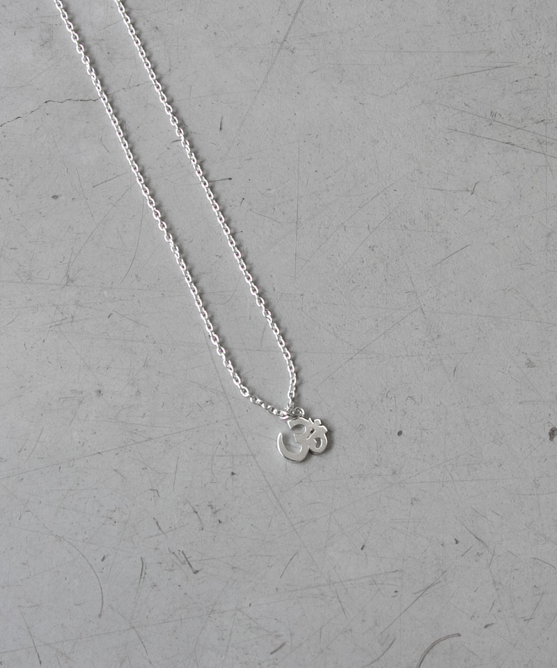 "Black Weirdos OM Silver Necklace ""Silver"""