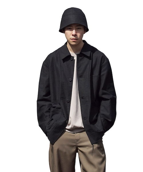 """【SOLD OUT】tone RING TWILL COVERALL """"BLACK"""""""