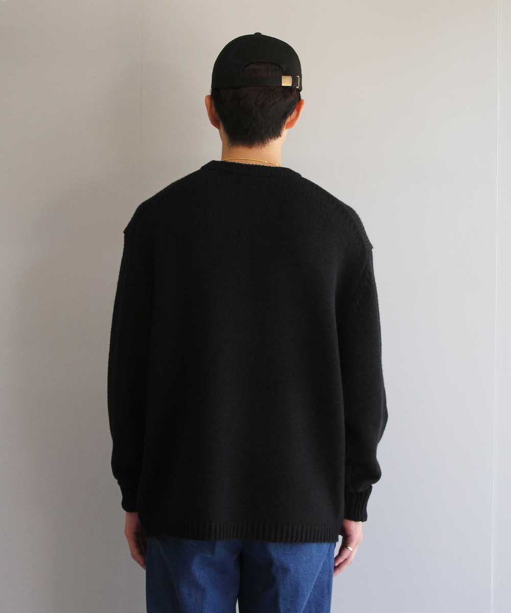 """【SOLD OUT】BLUFCAMP KNIT SWEATER  """"BLACK"""""""