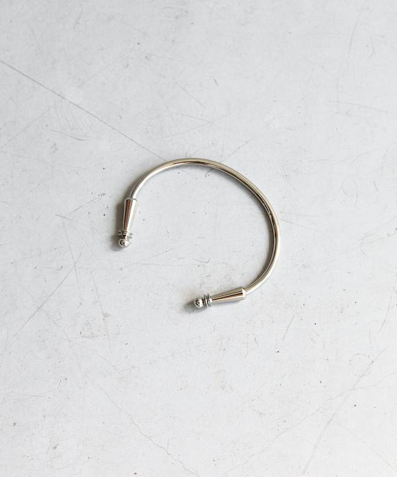 "TOGA VIRILIS Metal bangle set ""silver"""