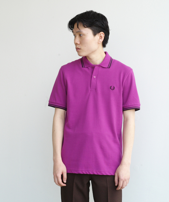 "FRED PERRY TWIN TIPPED FRED PERRY SHIRT ""HELIOTRPLE/BLACK"""