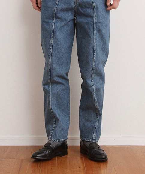 "MIN DENIM SLACKS STRAIGHT TAPERED ""WASHED INDIGO"""