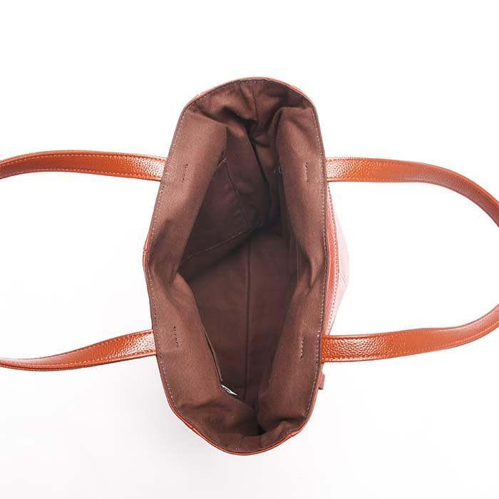 牛革縦型トートバッグ