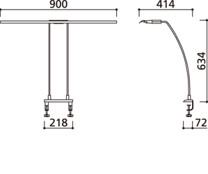 LEDスタンド OT888006 (幅900�)