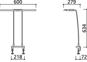 LEDスタンド OT888007 (幅600mm)