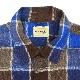 1960's VAN HEUSEN BLOCK PLAID SHIRT ... L