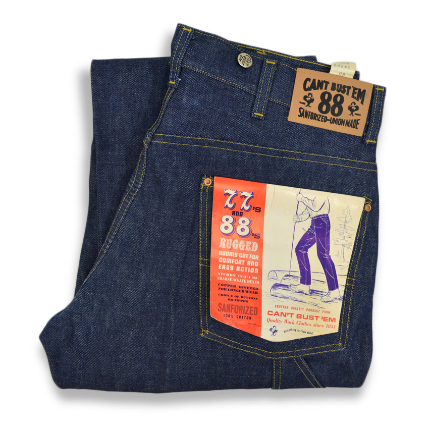 〜1960's Deadstock CAN'T BUST'EM 88 DENIM PANTS  ... W34 L29