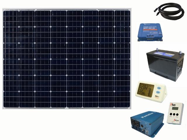 【215Wシステムセット/バッテリー過放電防止付属】オフグリッドソーラー215 Plus