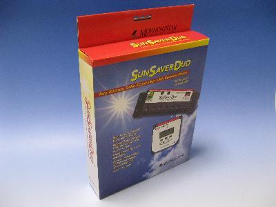 【2台のバッテリーへ別々充電】充電コントローラ SUNSAVER DUO/12V用