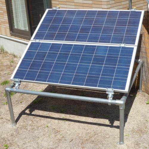 【単管パイプ用】ソーラーパネル取付け架台セット(パネル2枚用)
