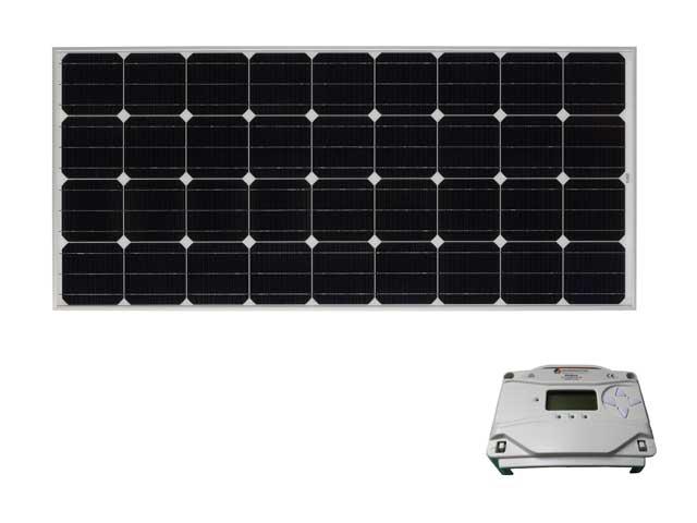 太陽光パネル160W+コントローラセット【PS】