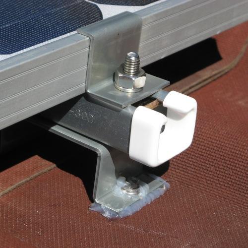 【正方形タイプパネル1枚用金具セット】ベースレール+押さえ金具セット160S
