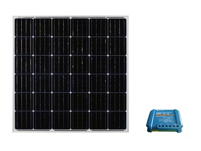 太陽光パネル160W+コントローラセット【BS-MPPT】_正方形