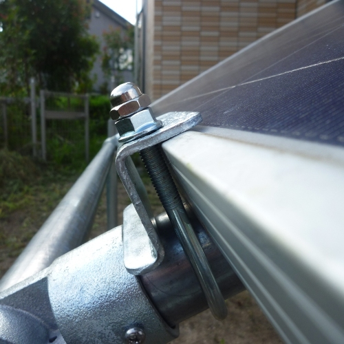 【単管パイプ用】ソーラーパネル取付け架台セット(パネル1枚用)